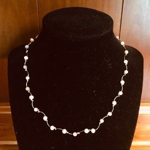 Silvery and Pink Necklace
